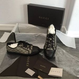 Other - Gucci Ace Supreme Beige Brown sneaker